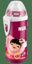 NUK FC Fľaška PP Flexi Cup 300ml dievča, flexi savička