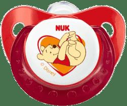 NUK Smoczek Disney (silikon), 0-6 miesięcy – czerwony