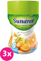 3x SUNÁREK Pomerančový rozpustný nápoj 200g