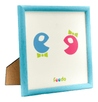 FEEDO Drevený ručne vyrábaný rámik modrý