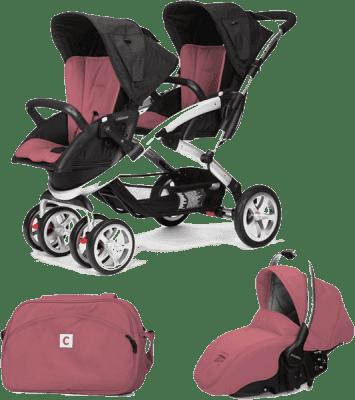 CASUALPLAY Zestaw Wózek dla bliźniąt Stwinner, 2x Fotelik samochodowy Sono i Torba 2015 - Boreal