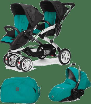 CASUALPLAY Zestaw Wózek dla bliźniąt Stwinner, 2x Fotelik samochodowy Sono i Torba 2015 - Allports
