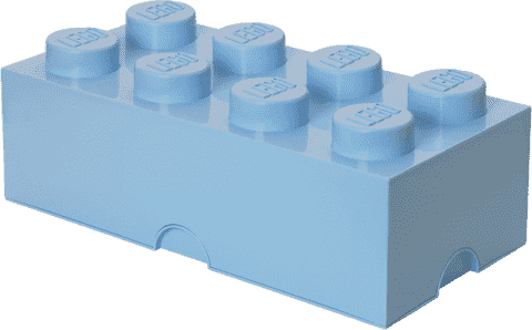 LEGO® Úložný box veľkosť 4 svetlo modrá
