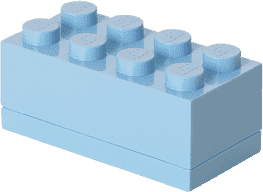 LEGO® Mini Box, svetlo modrá