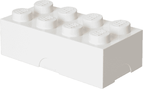 LEGO® Pudełko śniadaniowe, białe