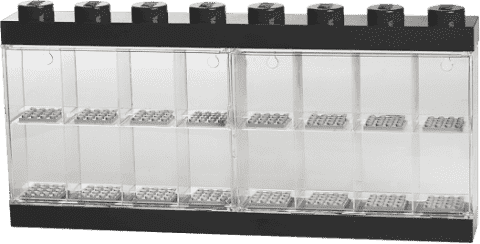 LEGO® Sběratelská skříňka na 16 minifigurek, černá