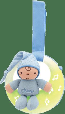 CHICCO Skřítek měsíček hrající modrý