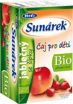 SUNÁREK BIO dětský čaj Jablečný se šípky 20x1,5g