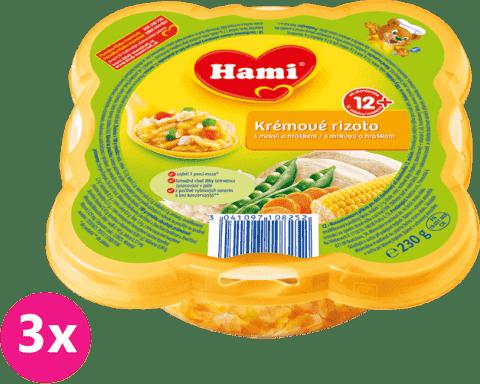 3x HAMI Malý Gurmán Krémové rizoto s mrkvou a hráškom 230 g