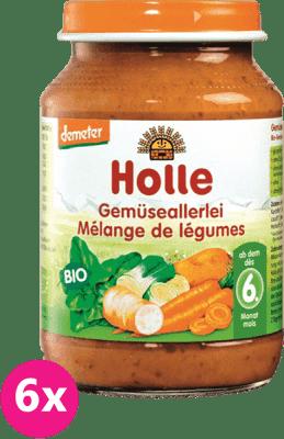6x HOLLE Bio Zeleninová směs - zeleninový příkrm, 190g