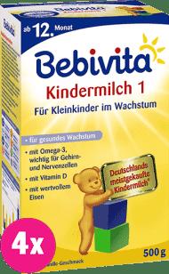 4x BEBIVITA JUNIOR 1+ (500g) - dojčenské mlieko
