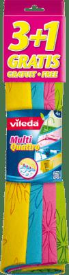 VILEDA Ściereczka uniwersalna 4 kolory (3 szt. +1 gratis)