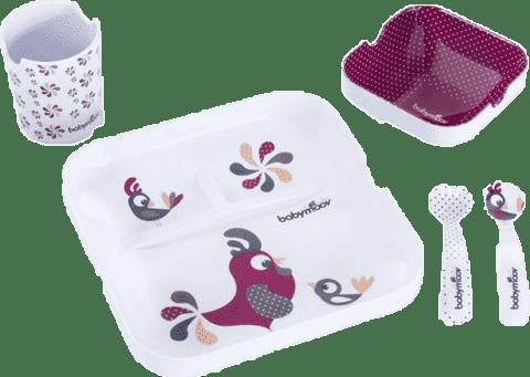 BABYMOOV Melamínová jedálenská súprava Lovely Bird