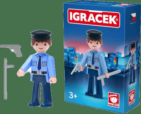IGRÁČEK Policjant z akcesoriami