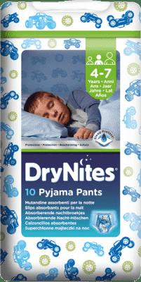 HUGGIES® DryNites dla chłopców 4-7 lat, 10 szt., (17-30 kg) - superchłonne majteczki