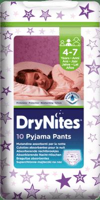 HUGGIES® DryNites dla dziewczynek 4-7 lat, 10 szt. (17-30 kg) - superchłonne majteczki