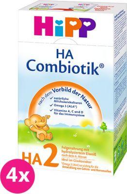 4x HIPP HA 2 Combiotik (500 g) – kojenecké mléko