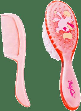 BABY ONO Kartáč a hřeben na vlasy – růžová