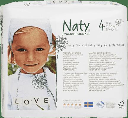 NATY NATURE BABYCARE Maxi 7-18 kg (27 ks) - jednorázové plienky