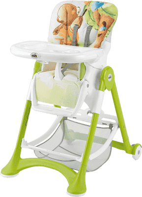 CAM Jedálenská stolička Campione - zelená