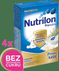 4x NUTRILON ProNutra rýžová (225g) - mléčná kaše