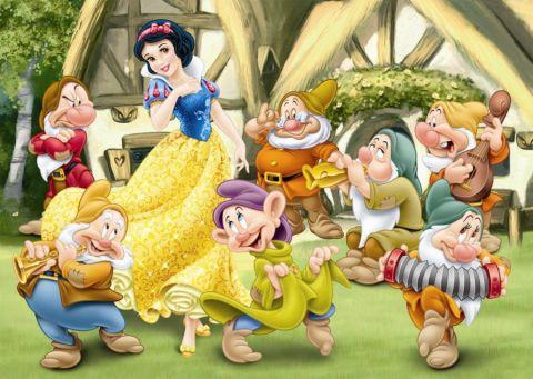 DINO Puzzle Planszowe Floor Królewna Śnieżka 24szt