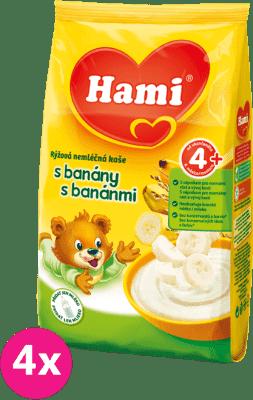 4x HAMI kaša s banánmi (180 g) - nemliečna kaša