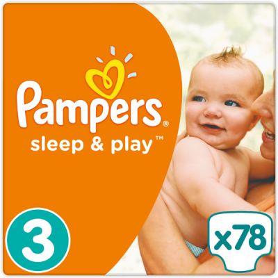PAMPERS Sleep & Play 3 MIDI 78ks (4-9kg) JUMBO PACK - jednorázové plienky