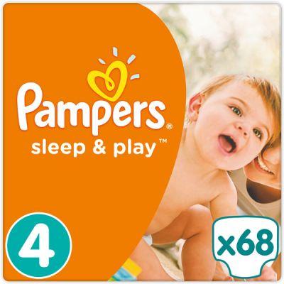 PAMPERS Sleep&Play 4 MAXI 68ks (7-14kg) JUMBO PACK - jednorázové pleny