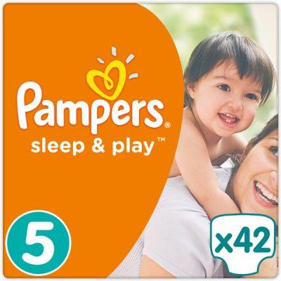 PAMPERS Sleep & Play 5 JUNIOR 42ks (11-18 kg) - jednorazové plienky