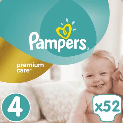 PAMPERS Premium Care 4 MAXI 52 ks (8-14 kg)- jednorázové pleny