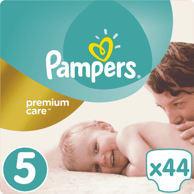 PAMPERS Premium Care 5 JUNIOR 44ks (11-18 kg) - jednorazové plienky