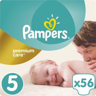 PAMPERS Premium Care 5 JUNIOR 56 ks (11-18 kg) JUMBO PACK- jednorázové pleny