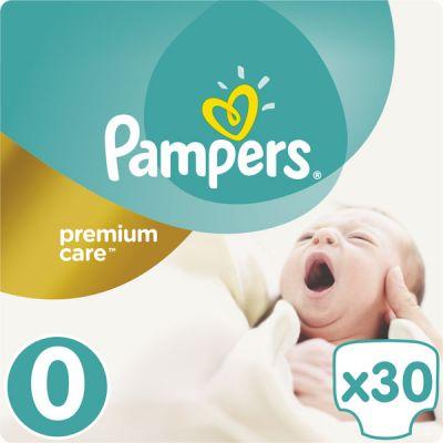 PAMPERS Premium Care 0 NEWBORN 30ks (do 2,5 kg) - jednorazové plienky