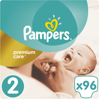 PAMPERS Premium Care 2 MINI 96 szt. (3-6kg), JUMBO PACK - pieluchy jednorazowe
