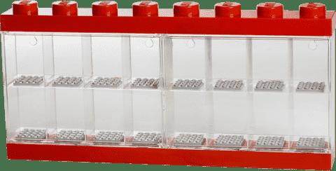 LEGO® Sběratelská skříňka na 16 minifigurek, červená