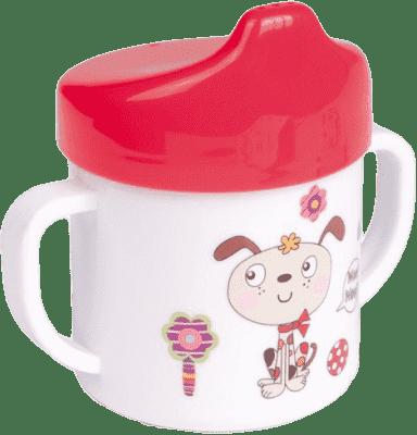 CANPOL Babies Hrneček s pitkem – růžová 200 ml