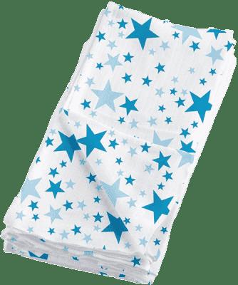 BAMBINO MIO Látkové mušelínové plienky 4ks - Blue Stars