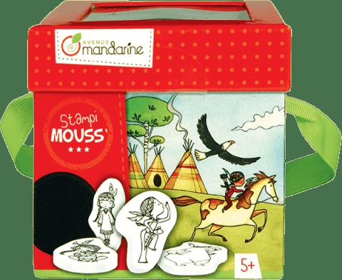 AVENUE MANDARINE Detské pečiatky s omaľovánkami Indiánky