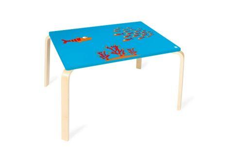 SCRATCH Drevený detský stôl Rybička