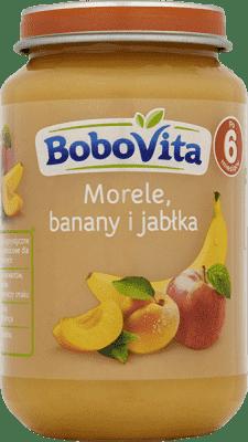 BOBOVITA Jabłka i morele z bananami (190g)