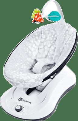 4MOMS rockaRoo™ Lehátko Plush Silver