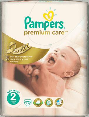 PAMPERS Premium Care 2 MINI 72ks (3-6kg) - jednorázové pleny