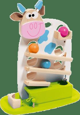 SCRATCH Guličkové dráha kravička