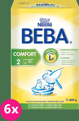 6x NESTLÉ BEBA Comfort 2 (600g) - dojčenské mlieko