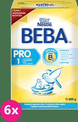 6x NESTLÉ BEBA 1 PRO (600g) - dojčenské mlieko