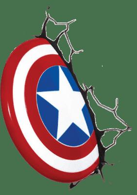 PHILIPS 3D světlo na zeď Štít Captain America