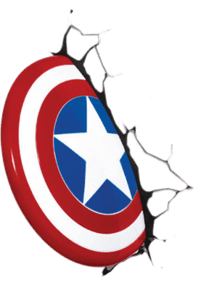 PHILIPS 3D svetlo na stenu Štít Captain America