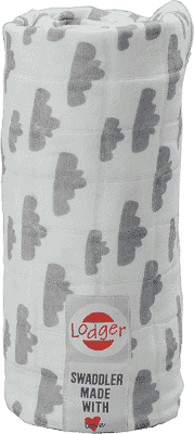LODGER Multifunkční osuška Swaddler Cotton – Grey