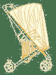 OILILY Moskytiéra na hlubokou korbu, Yellow